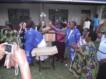 Joyful Mothers Union leaders after receiving sewing machines