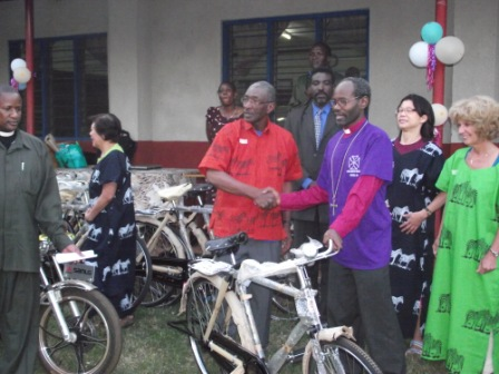 Team donating bicycles