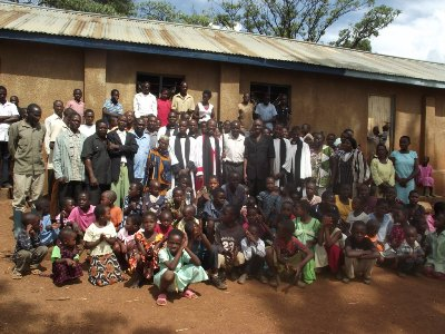 The congregation at Nkongore after Sunday service on 8 May 2011.